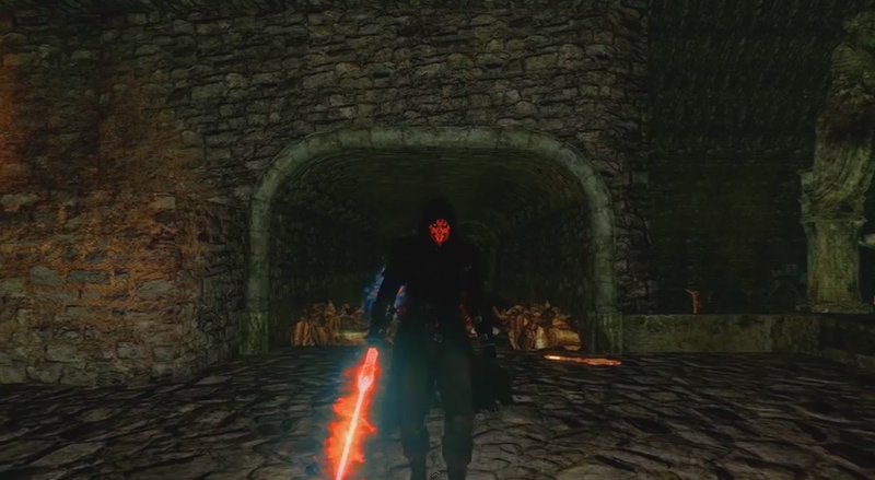 Illustration for article titled Play Dark Souls 2 As Darth Maul