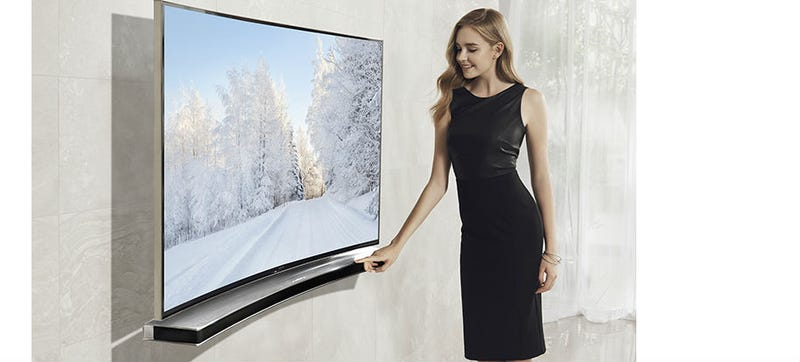 Illustration for article titled Samsung Has a Curved Soundbar For Your Curved TV