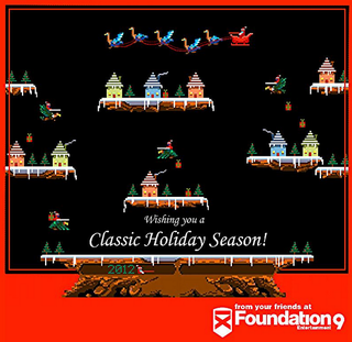 Illustration for article titled The Best Gaming Holiday Card Is Probably The One Celebrating Joust Christmas