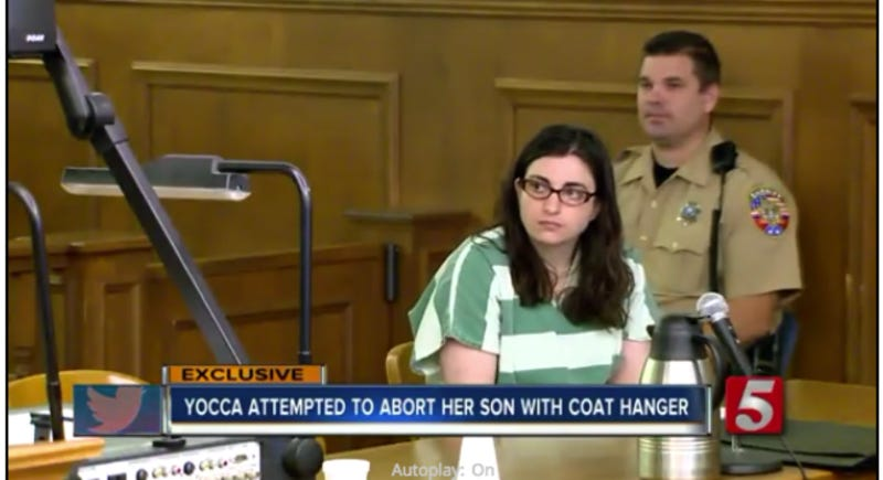 Yocca in court in October. Screenshot via News Channel 5