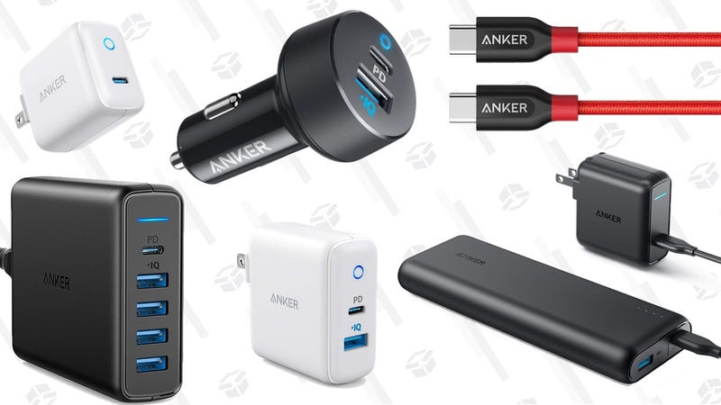 Anker 5-Port USB-C Desktop Charger | $37 | Amazon | Promo code ANKERPDRAnker USB-C Dual Car Charger | $13 | Amazon | Promo code ANKERPDCAnker USB-C Dual Wall Charger | $17 | Amazon | Promo code ANKERPDHAnker 15W Mini USB-C Wall Charger | $13 | Amazon | Promo code ANKERPD2Anker 30W USB-C Wall Charger | $19 | Amazon | Promo code ANKERPDGAnker PowerCore Speed 20000 USB-C PD Battery Pack with USB-C Wall Charger | $78 | AmazonAnker PowerCore+ 26,800 USB-C PD Battery Pack with USB-C Wall Charger | $104 | Amazon | Clip the 20% couponAnker PowerLine II USB-C to C Cable 6' | $10 | Amazon | Promo code ANKERCC8Anker PowerLine+ USB-C to C Cable Nylon 3' | $11 | Amazon | Promo codeANKERCC7