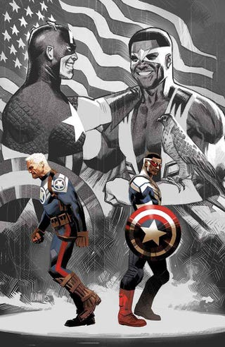 Illustration for article titled Captain America Takes On Our Current Political Landscape