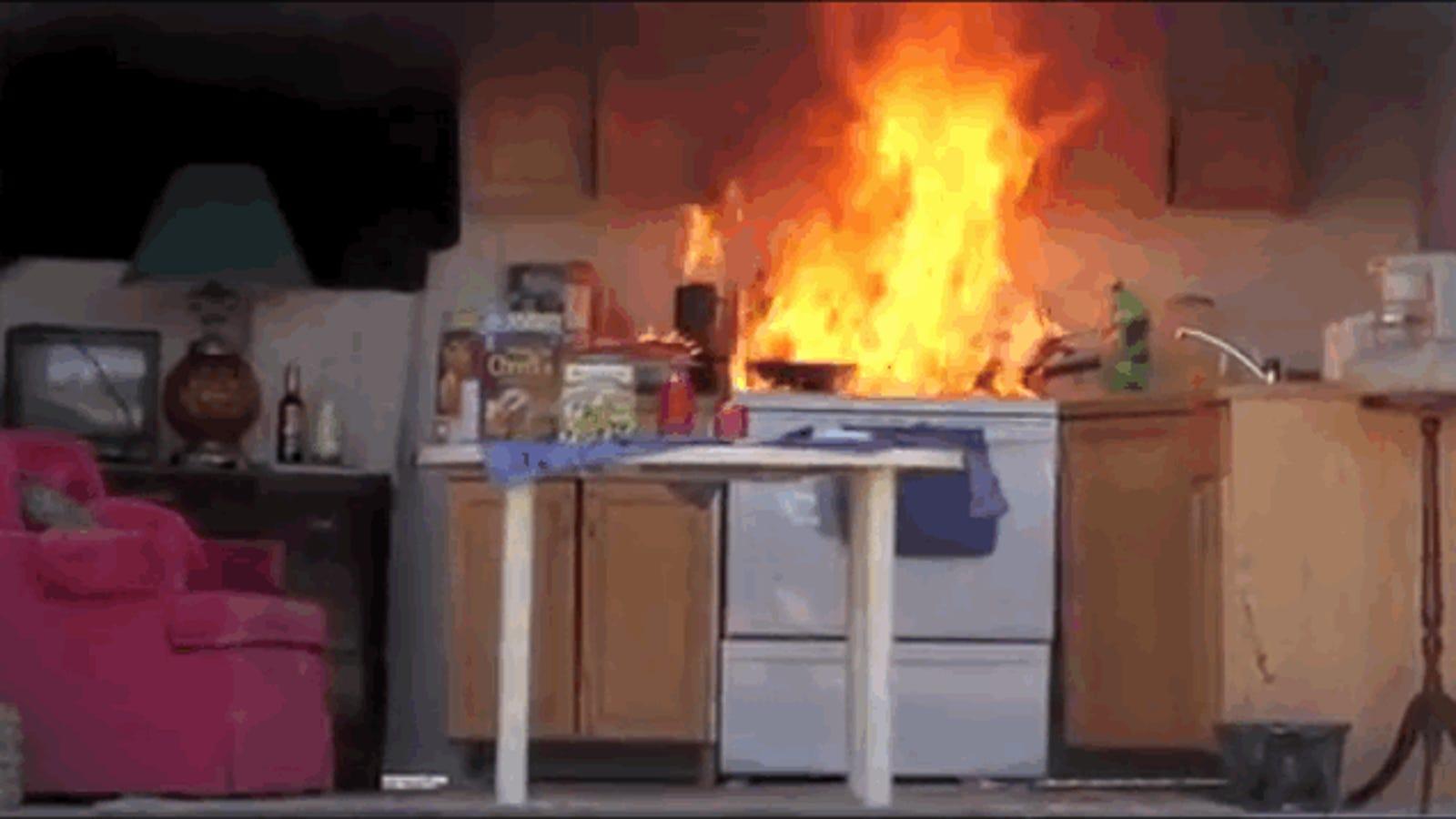 Qu ocurre si sales de casa y te das cuenta que dejaste el fuego encendido - Cocina de fuego ...