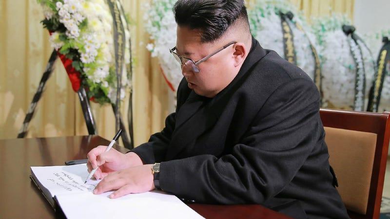 Kim Jong Un on Nov. 28, 2016 (KNS/AFP/Getty Images)