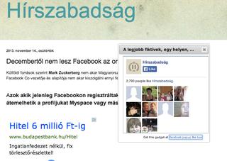 Illustration for article titled Zseniális üzleti modell az idióta netezőkre építő Hírszabadság