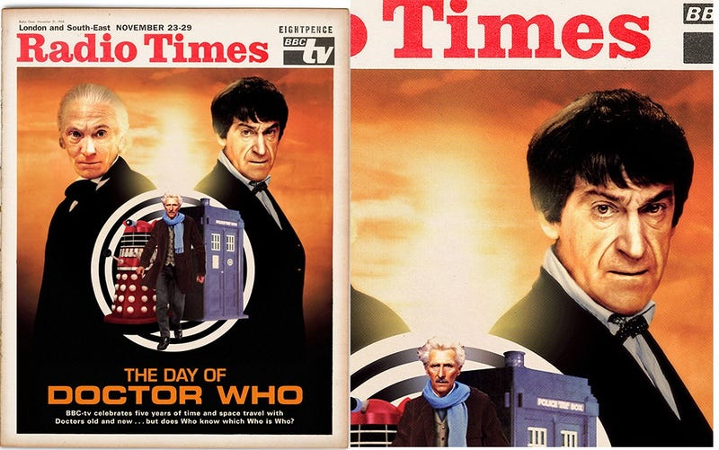 """Illustration for article titled A New Glimpse OfDoctor Who's """"Lost"""" 5th Anniversary, With Peter Cushing"""