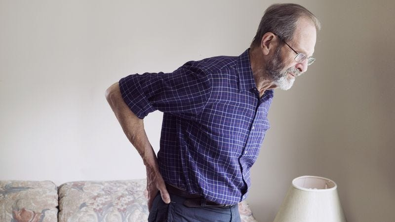 Illustration for article titled Area Man's Back Aching After Bad Night's Sleep, 58 Continuous Years Of Horrible Posture