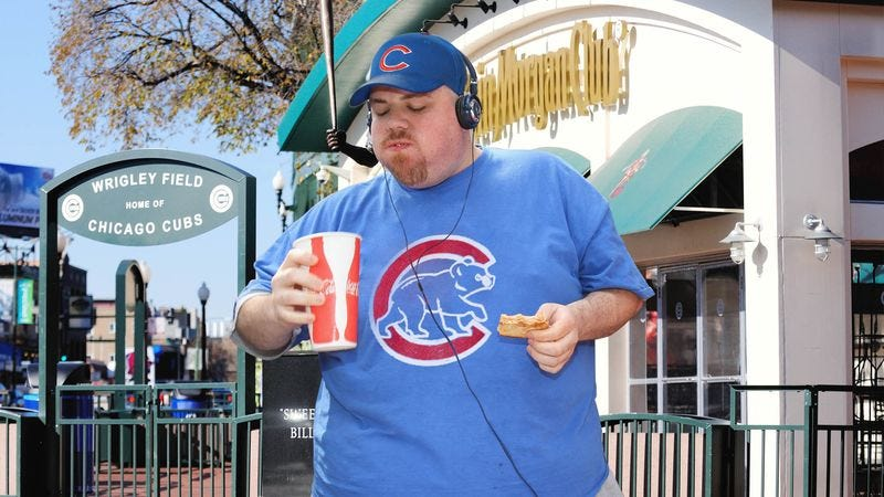 Illustration for article titled Cubs Fans Now Too Fat To Attend Games