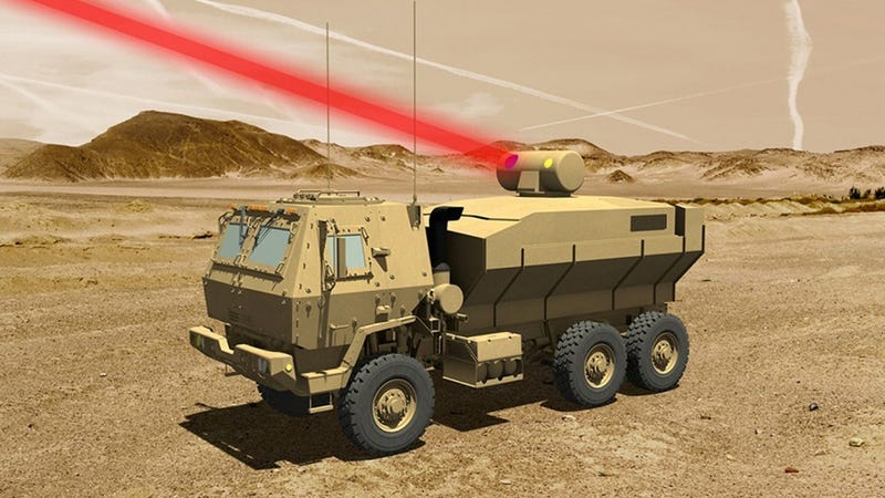 Rendering of the laser mounted to a truck. Image: Lockheed Martin