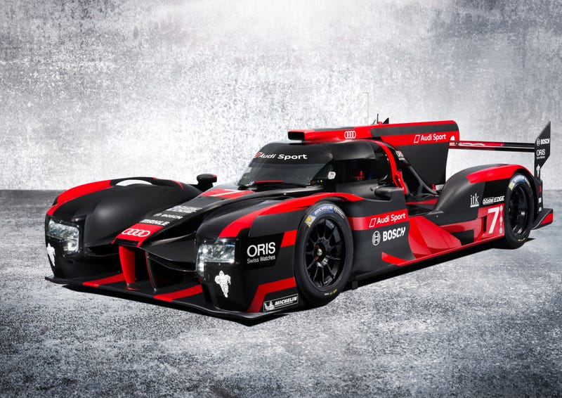 Illustration for article titled The New Audi R18 Is Here And Its Livery Is Just As Mean As The Car