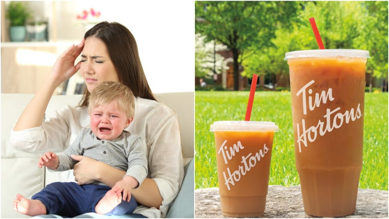 "Illustration for article titled Tim Hortons' ""Mom-sized coffee"": at last, a thoughtful free food gimmick"