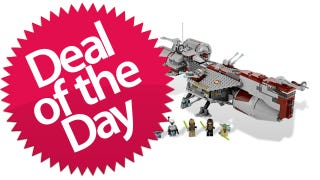 Illustration for article titled This Lego Republic Frigate Is Your Saving-The-Republic-One-Minifig-Transport-At-A-Time Deal Of The Day