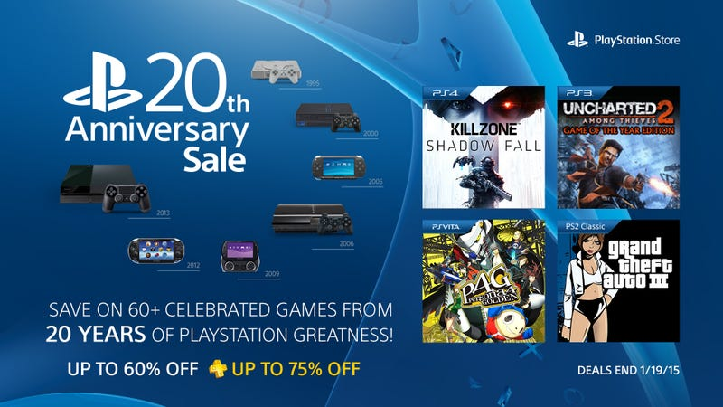 Illustration for article titled Celebrate PlayStation's 20th Anniversary With These Amazing Game Deals