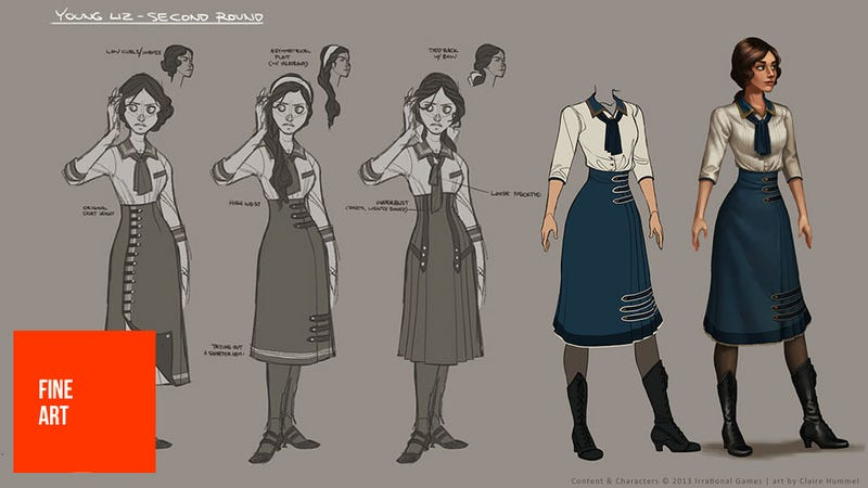 Illustration for article titled Designing The Dresses For BioShock Infinite's Elizabeth (And The Lutece Twins)