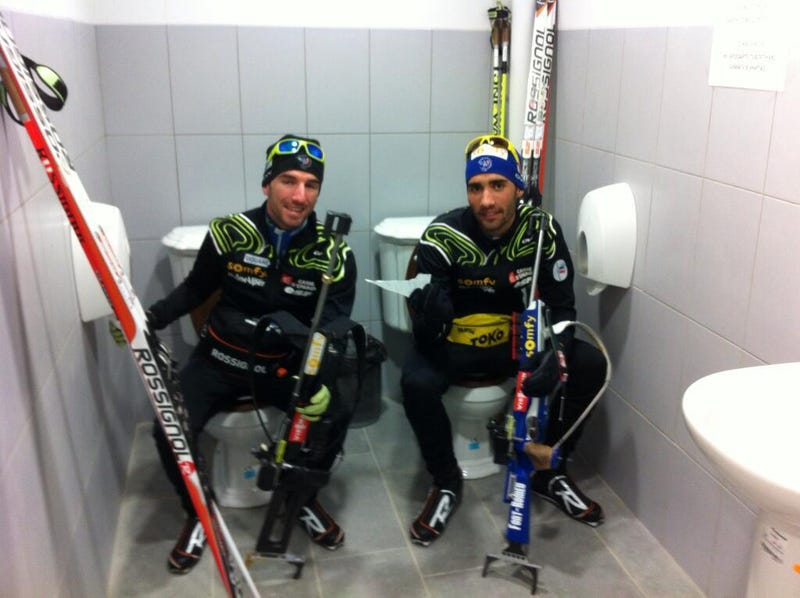 Illustration for article titled The Sochi Double Toilets Are Real!