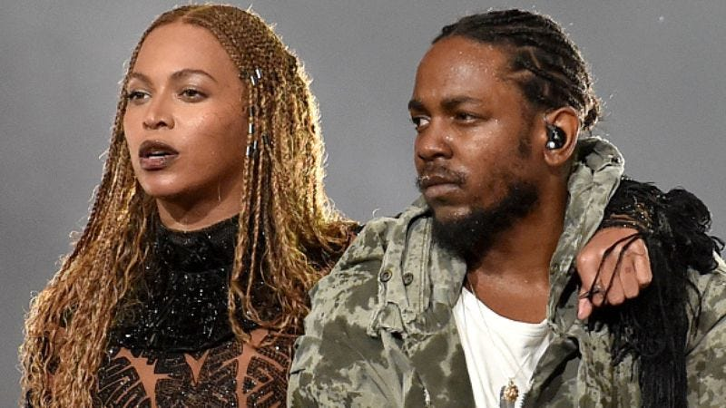 Beyoncé and Kendrick Lamar (Photo: Paras Griffin/BET; Getty Images)