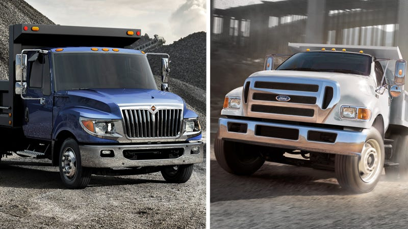 Illustration for article titled Power Stroke Vs. Cummins Rivalry Is Stepping Up To Even Bigger Trucks