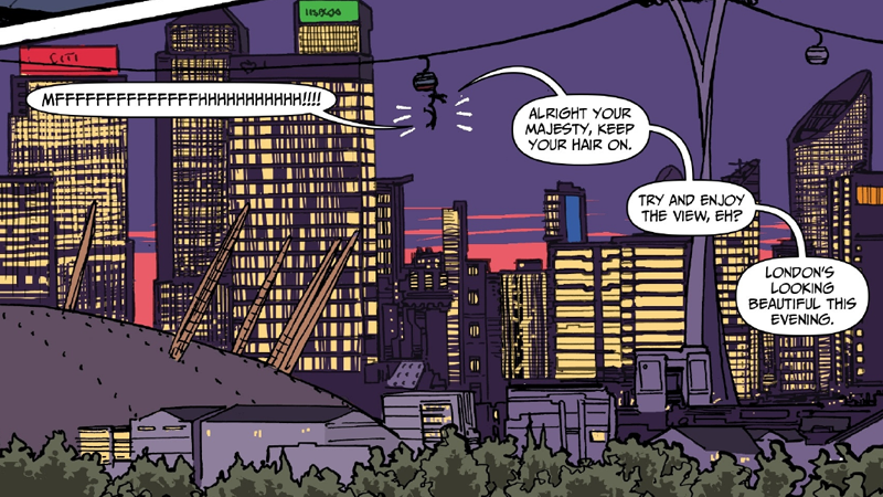 Image: Image Comics. Art and lettering by  Simon Fraser, Gary Caldwell, and Peter Doherty