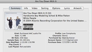 Illustration for article titled Yep, iTunes Embeds Your Email Address in DRM-Free Tracks, Move Along
