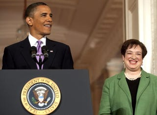 President Obama and confirmed U.S. Supreme Court nominee Elena Kagan