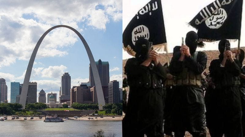 Illustration for article titled Disgusting: ISIS Has Announced That It Finds The St. Louis Arch Unimpressive And Has No Wish To Attack It