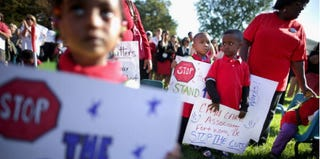 Head Start participants outside Capitol, Oct. 2, 2013, protest government shutdown. (Chip Somodevilla/Getty Images)