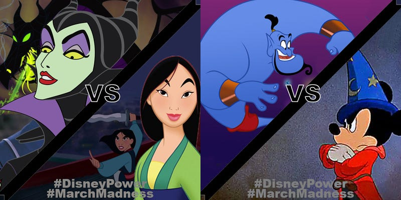 Illustration for article titled #DisneyPower #MarchMadness Final Four!
