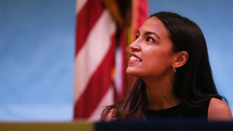 Rep. Alexandria Ocasio-Cortez holds an immigration Town Hall In Queens on July 20, 2019 in New York City.
