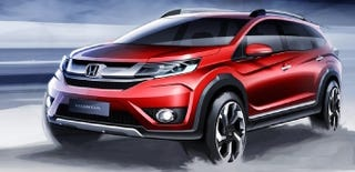 Illustration for article titled 2016 Honda BR-V: Why Haven't We Heard Of This Futuristic Seven-Seater?