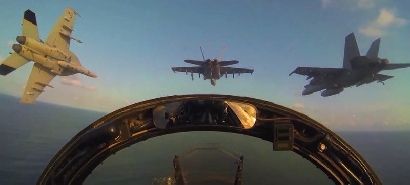Illustration for article titled Super Hornet Squadron Heads To Sea, Makes Kick-Ass Cruise Video