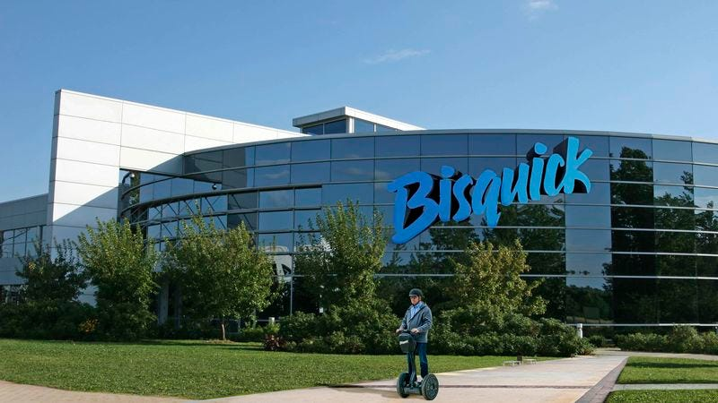 Emphasizing Bisquick's progressive, egalitarian ethos, the company CEO and other top Bisquick brass will sit among regular employees in the expansive open-plan office.