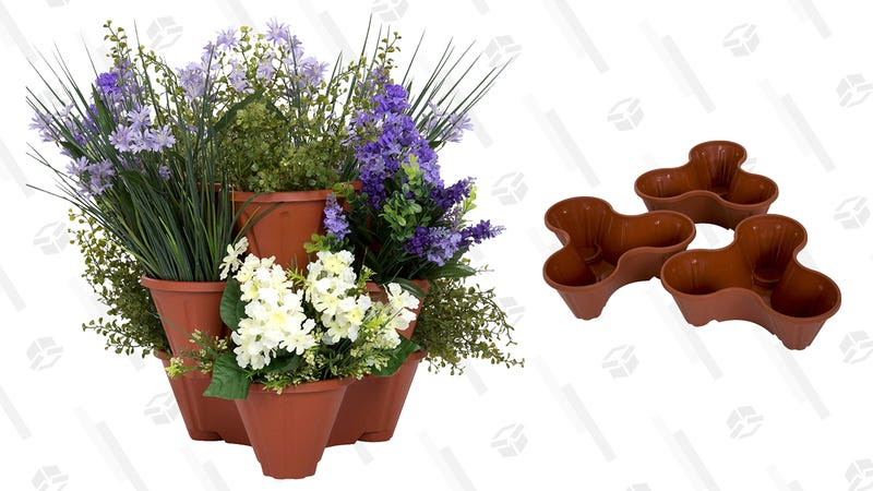 Pure Garden Stacking Flower Pot Tower | $13 | Amazon
