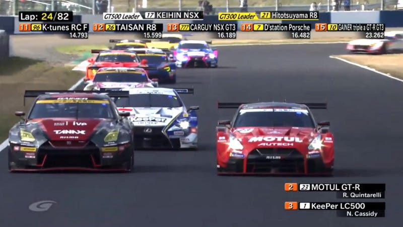 Illustration for article titled You Really Need To Be Watching Japan's Awesome Super GT Series