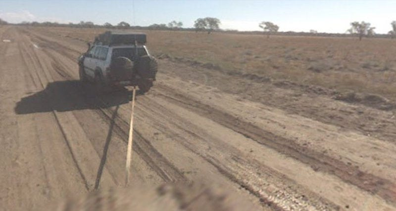 Illustration for article titled Google Street View Car Stuck In Mud Down Under