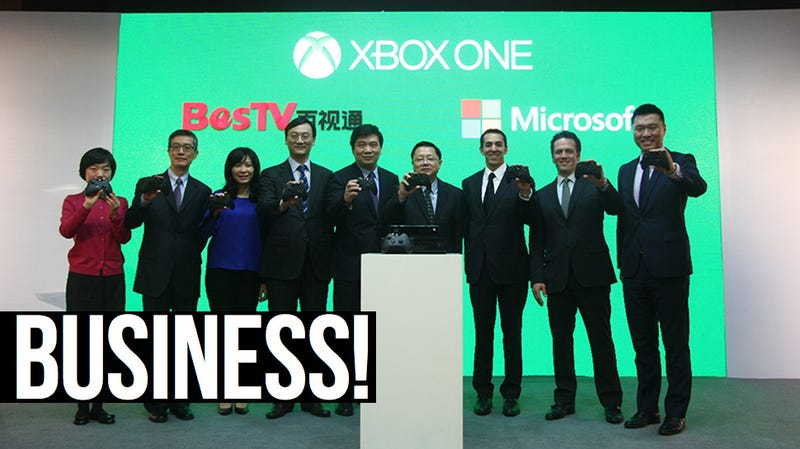 Illustration for article titled This Week In The Business: Not For All The Xbox Ones In China