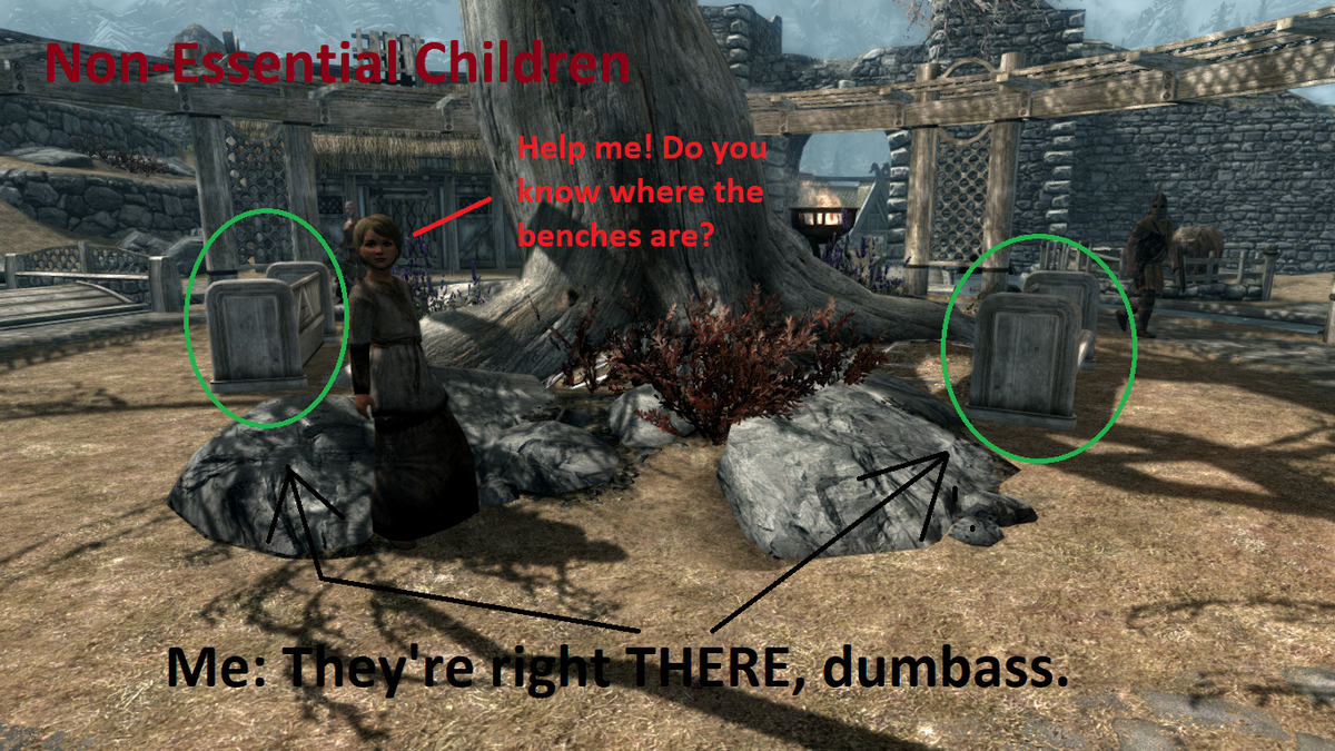 Skyrim Modder Wants You To Know Their Child Killing Mod Is The Best One