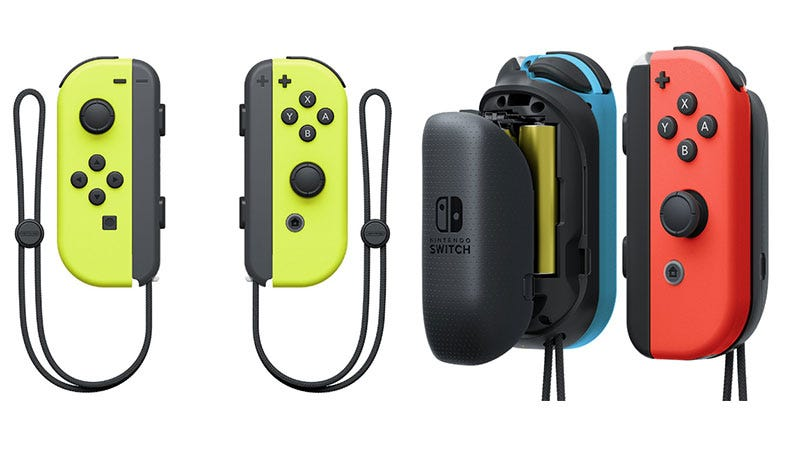 Illustration for article titled New Joy-Con Color, Battery Pack Coming