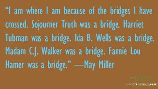 Illustration for article titled Quote of the Day: May Miller on Her Success