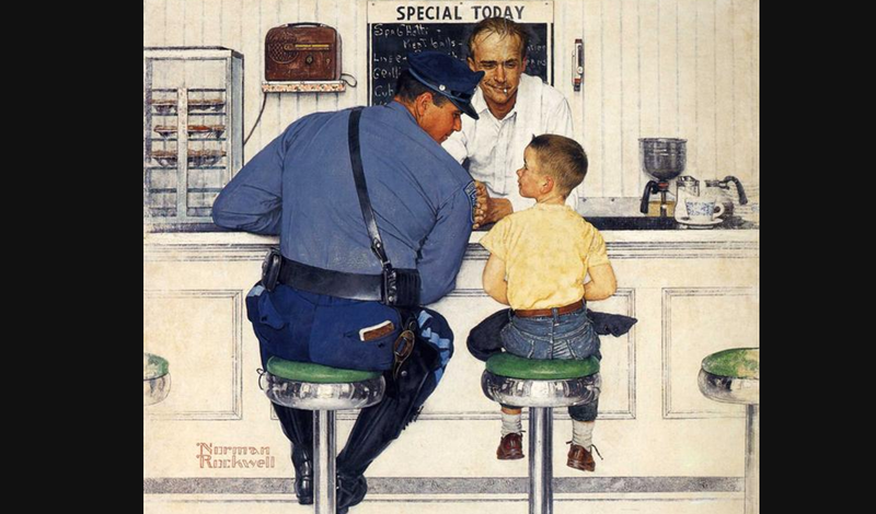 The Runaway by Norman Rockwell, 1958