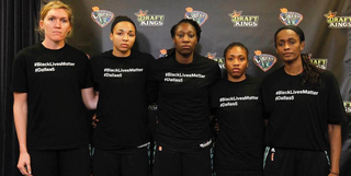 New York Liberty players wearing the controversial T-shirtsInstagram