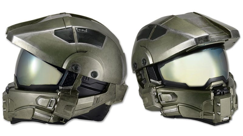 Illustration for article titled A Halo-Themed Helmet That Protects Your Head On Motorcycles or Warthogs