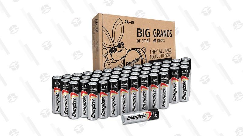 Energizer AA Batteries (48 Count) | $15 | Amazon