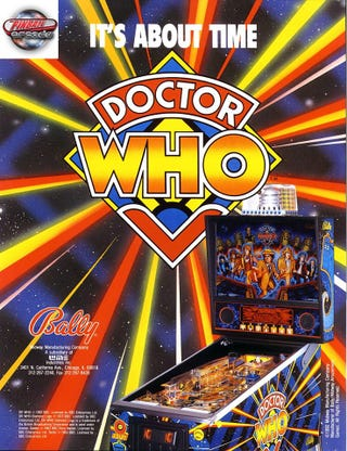 Illustration for article titled Dr. Who in Digital Pinball Form Coming to the Gaming Device of Your Choice.