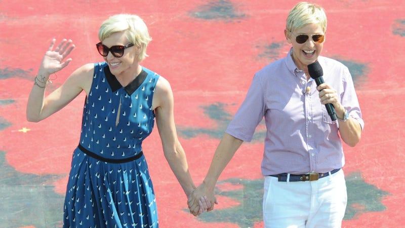 Illustration for article titled Sick of Ellen DeGeneres and Portia De Rossi Yet? Yeah, Me Neither