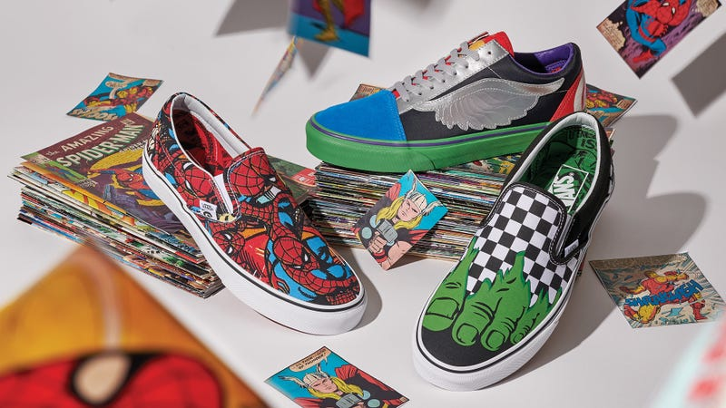 Vans Captain Marvel Sneakers Avengers Deadpool Spider-Man