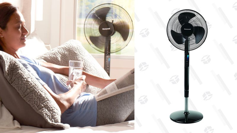 """Honeywell Advanced Quietset with Noise Reduction Technology 16"""" Whole Room Pedestal Fan 