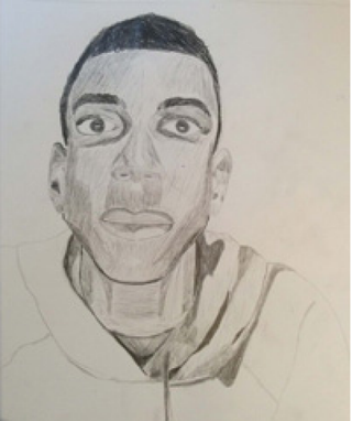 A self-portrait by Sarah Ladipo Manyika's son at age 15Courtesy of Sarah Ladipo Manyika