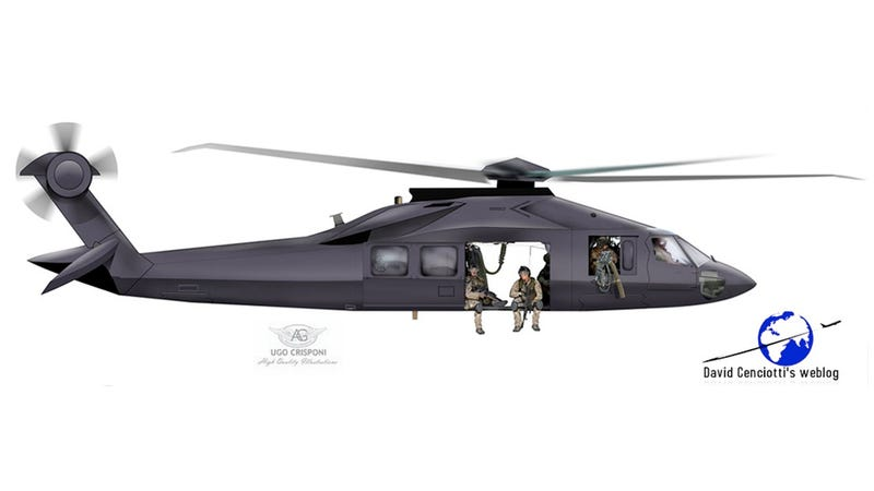 Illustration for article titled Is This the Navy's Secret Helicopter?