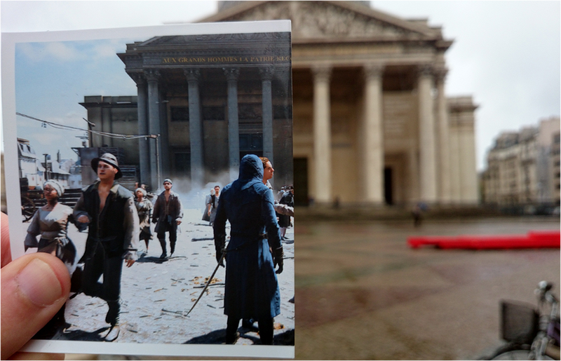 El París de Assassin's Creed Unity superpuesto sobre el París actual