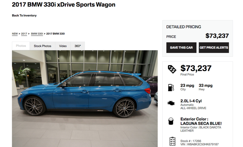 Illustration for article titled Which One Of You Maniacs Is Going To Buy This $73,000 BMW 3 Series Wagon?